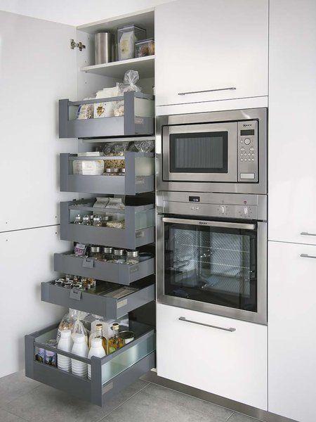 handige opberging kast in keuken.