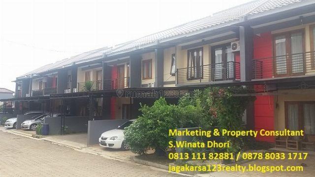 TOWNHOUSE 1,2 M,TANAH LUAS 116 M2,2 CARPOT, rumah dijual hos2228516 hubungi Simon winata dari Sunrise Property Cinere