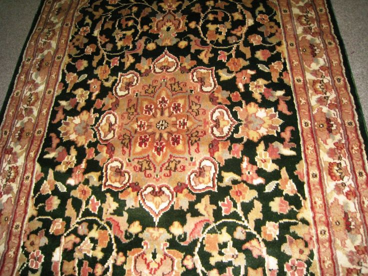 persian carpet oriental rug genuine ethnic sindhi indian design 3x5 hand knotted silk wool blend floral - 3x5 Rugs