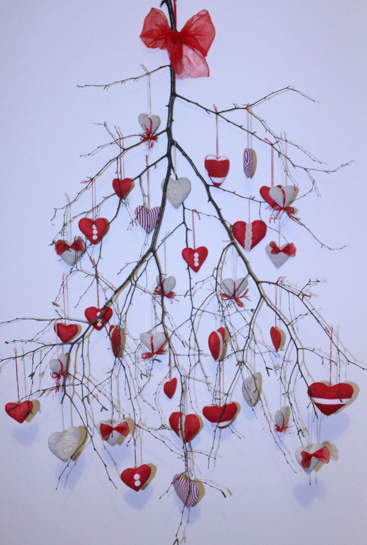 valentine-y but nice use of a tree branch