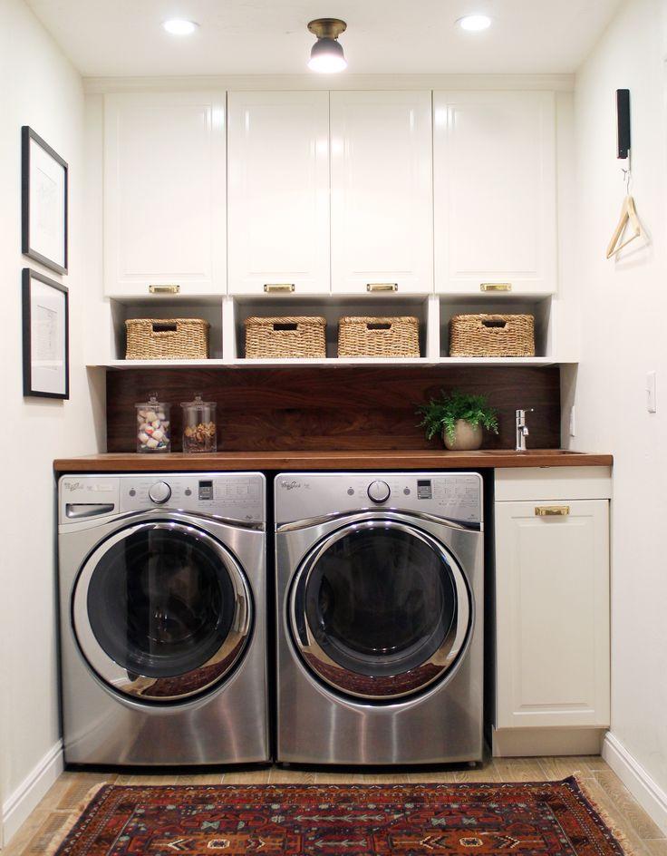 Functional, compact laundry room via Chris Loves Julia