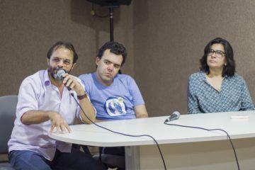 Lançamento dos ensaios biográficos sobre Petrúcio Maia, Fausto Nilo e Ednardo – coleção Terra Bárbara. 27/06/2017 Fotos: Joyce S. Vidal. | Porto Iracema das Artes