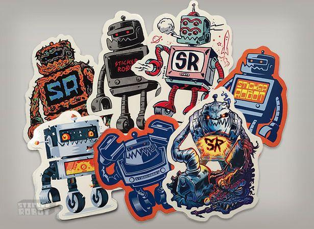 Custom (Sticker Robot) Sticker Packs! featuring Skinner, Travis Millard, Hydro74, Yema Yema, Zombie Yeti, Reuben Rude and Morning Breath Inc.