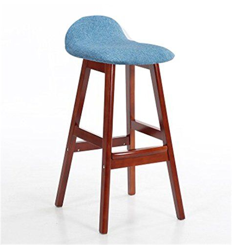 Cqq Bar Chair Solid Wood American Style High Stool European Armchair Cafe Creative