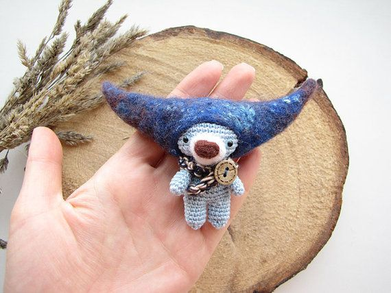 Toy bear - Knit Toy - Soft bear - Viking bear