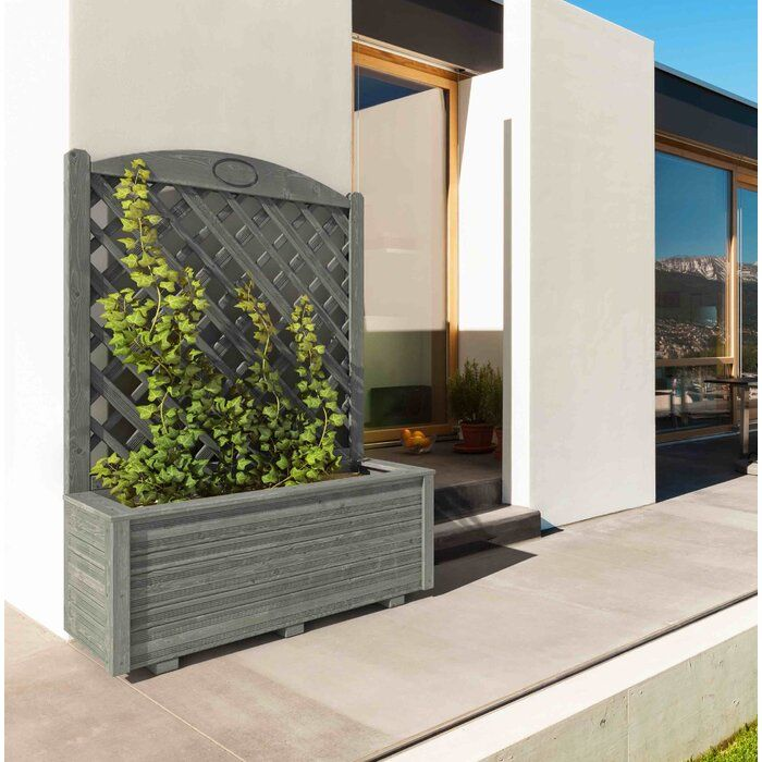 Diamond Planter Box With Trellis Planter Box With Trellis Planter Boxes European Garden