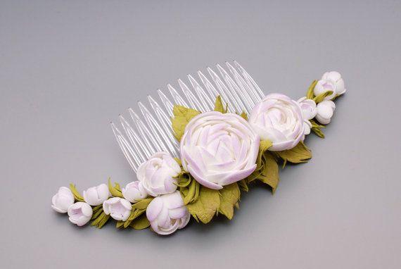 Flower comb handmade made to order foam eva от BeeJouByElena