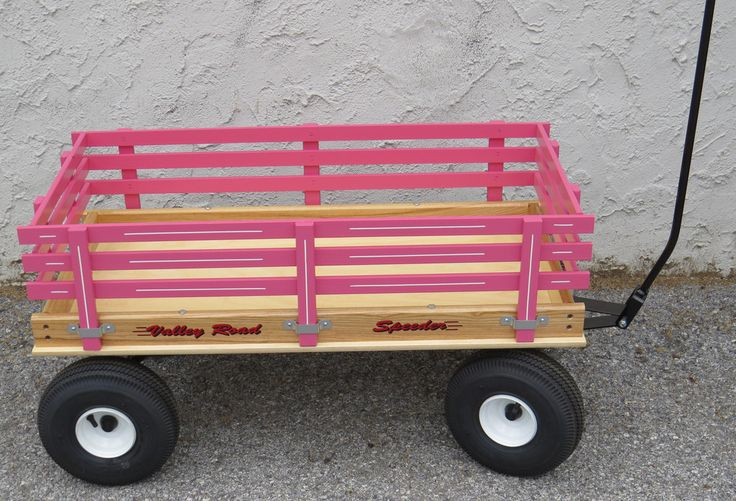 """CLASSIC WAGON 36"""" Wood or Poly Garden Beach Cart Child Wooden Pull Toy Amish Made in USA"""
