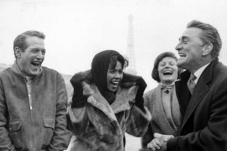 Paul-Newman-Diahann-Carroll-and-Kirk-Douglas
