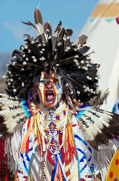Plains First Nations in regalia, Wanuskewin Heritage Park, Saskatoon, Saskatchewan - Photo by Tim Graham