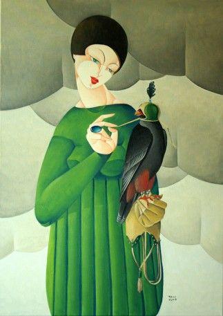 Obraz olejny na bawełnianym płótnie - Urszula Tekieli