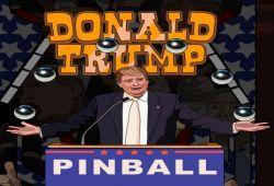 Ahora puedes jugar al pinball de Donald Trump desde tu navegador. Como en todos los juegos de pinball debes golpear la pelota para mantenerla en el juego sin que caiga a la parte inferior del juego, de lo contrario perderás una oportunidad de las tres que tienes. ¿Cuántos puntos obtendrás?.