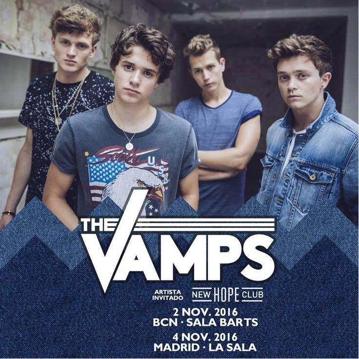 The Vamps ofrecerá dos conciertos en Madrid y Barcelona el próximo mes de noviembre:  http://www.popelera.net/the-vamps-conciertos-madrid-barcelona-2016/