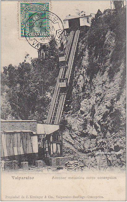 Ascensor Concepción, 1883