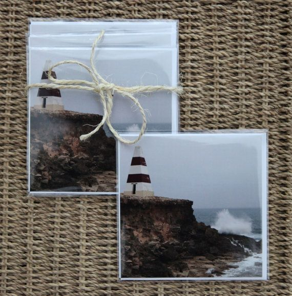 Fine art cards of 4 blank greeting card set Obelisk in Robe, South Australia - Made by Gia $14.00