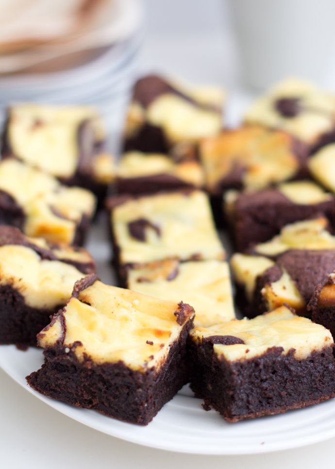 Vanille cheesecake brownies