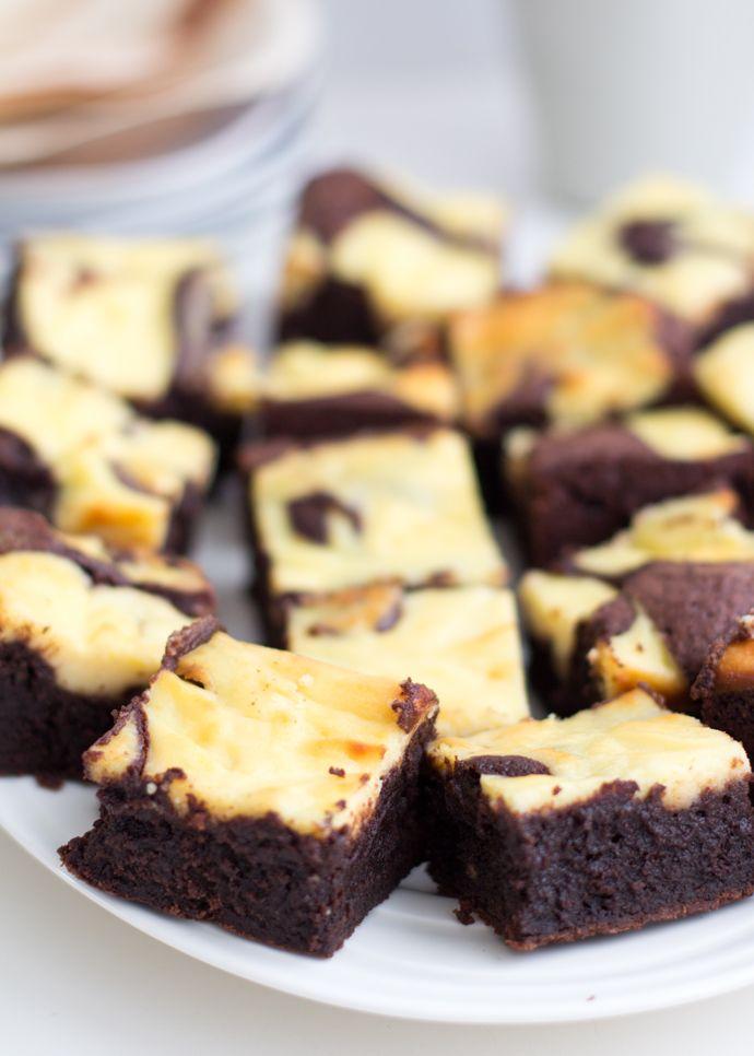 Vanille cheesecake brownies