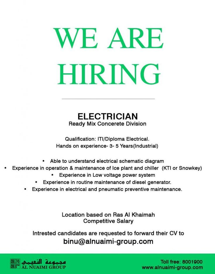 Electricians UAE Openings in 2020 Electrician, We are