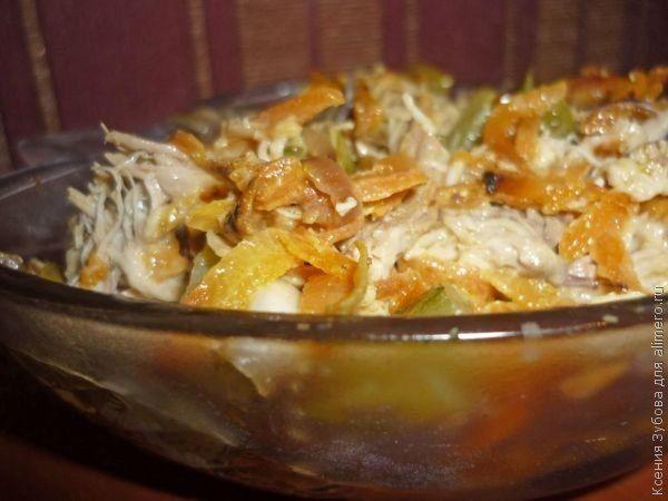 """Еще больше рецептов здесь https://plus.google.com/116534260894270112373/posts  Салат """"Ложные опята""""  Салат «Ложные опята» получил свое название из-за того, что в его состав опята не входят, а грибной вкус ощущается. Это несложный салат из доступных ингредиентов, но очень вкусный и питательный.   Ингредиенты:  Мясо (у меня куриное мясо) — 600 гр. Морковь — 2 шт. Лук репчатый красный — 3-4 шт. Огурцы соленые — 5-6 шт. Растительное масло — для смазывания сковороды. Соль, перец — по вкусу…"""