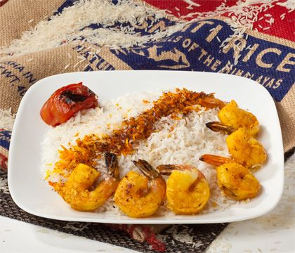 Shrimp Rice Traditional Dishes - Traditional Persian Dishes to Take Out, Catering