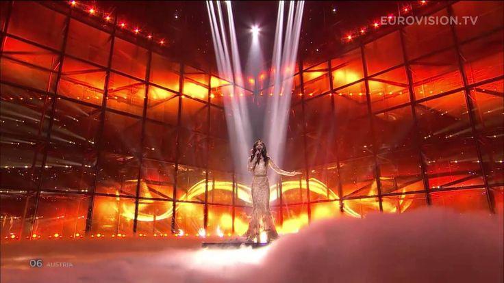 Here she is! Conchita Wurst - Rise Like a Phoenix (Austria) the 2014 Eurovision Winner.