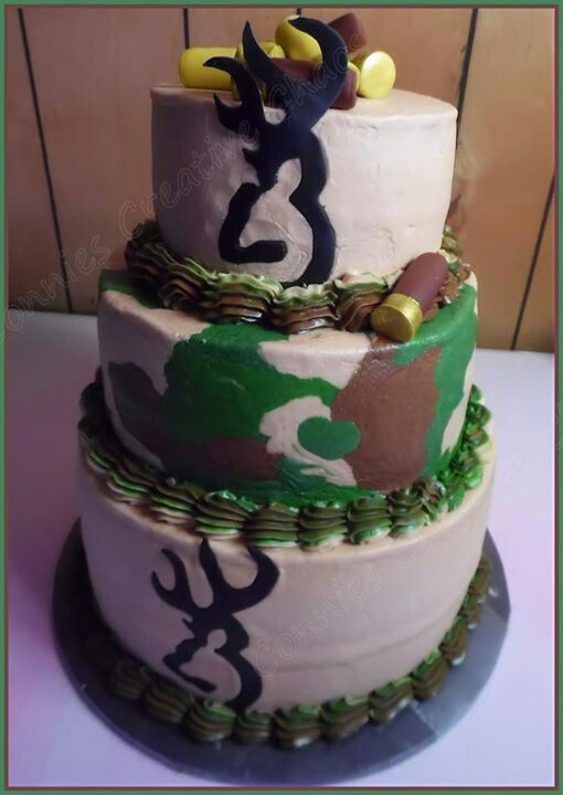 Browning camo cake by Connies creatives