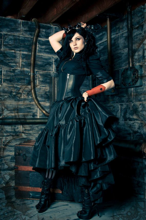 Plus Size Steampunk Skirt Pirate Gothic by KMKDesignsllc on Etsy