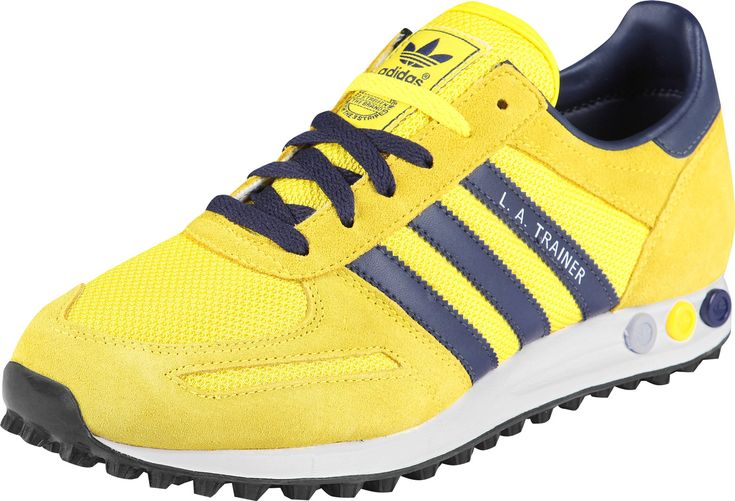 adidas l.a. trainer yellow/blue