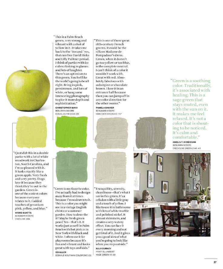 House Beautiful: 500+ Favorite Paint Colors Green