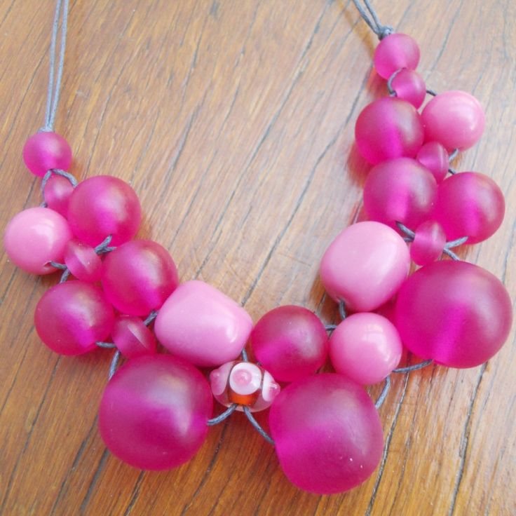 Pink Bubble Ball Necklace