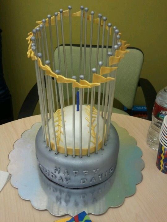World Series trophy cake | My Cakes | Pinterest | World ...