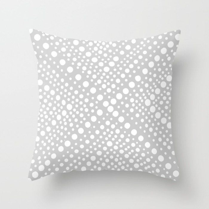 outdoor throw pillow pewter gray and white modern geometric x dot outdoor pillow
