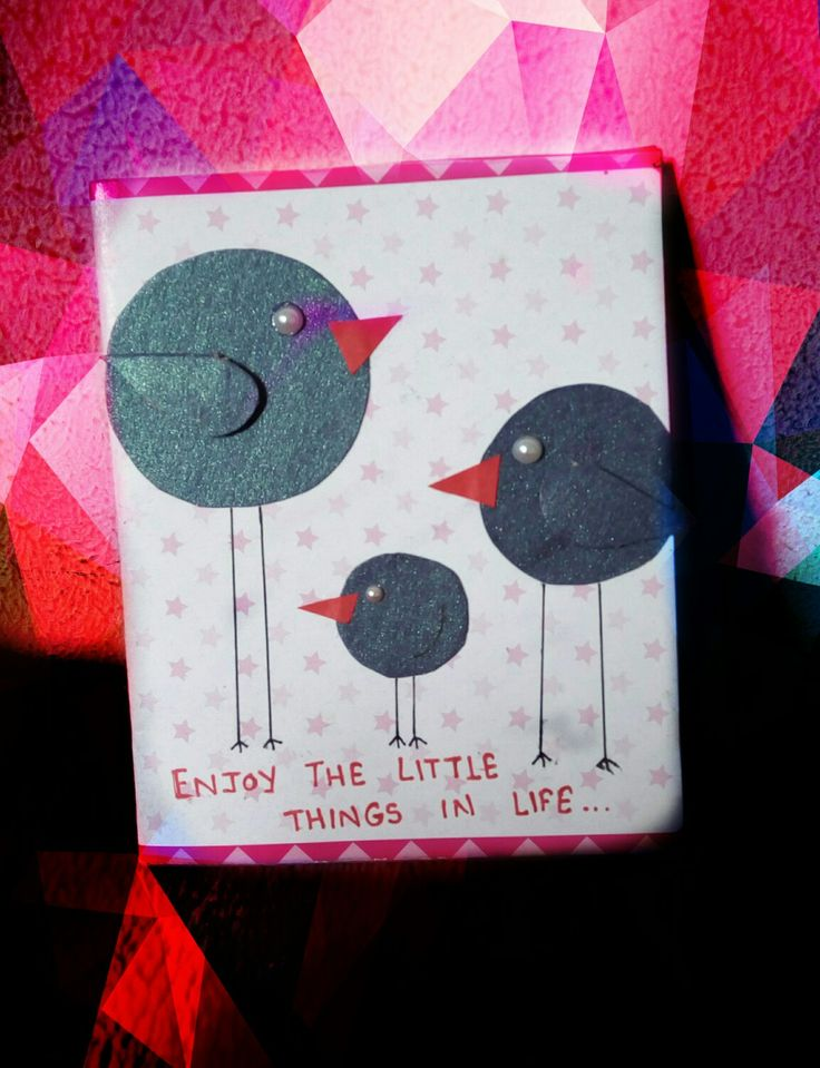 Handmade craft #4 : Enjoy the little things in life card..