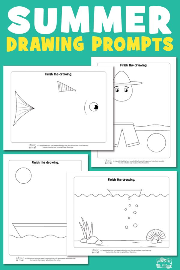 Lovely Summer Drawing Prompts