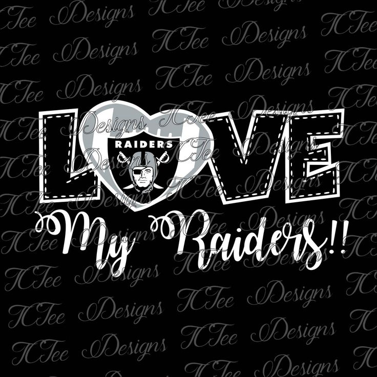 Love My Raiders - Oakland Raiders - Football SVG Design Download - Vector Cut File by TCTeeDesigns on Etsy