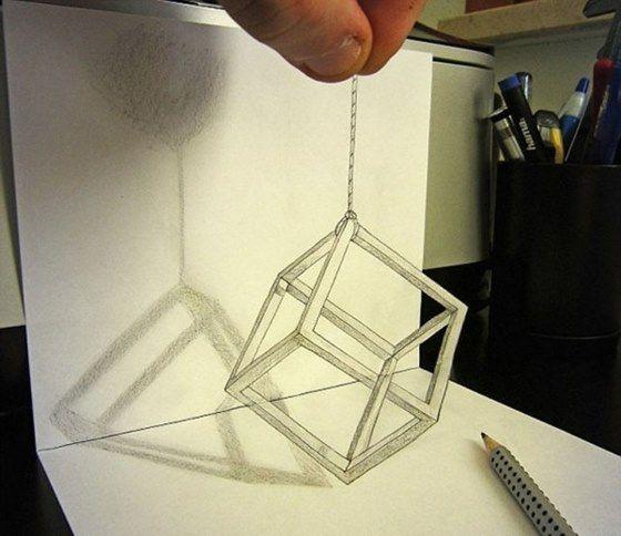 Fantásticas ilusiones en lápiz y papel