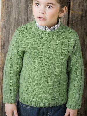Neulottu pojan pintaneulepusero Novita 7 Veljestä   Novita knits