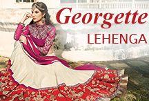 Georgette Lehenga