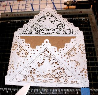 DYI Doily Wedding Invitation Envelopes and Liners- how-to
