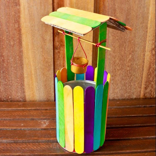 Navratri activities Make a colorful mini wishing well - Follow @Guidecentral for colorful #craft projects
