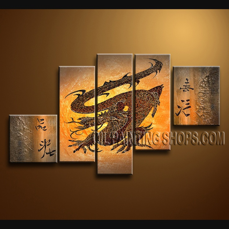Astonishing Contemporary Wall Art Oil Painting On Canvas For Living Room  Abstract. This 5 Panels