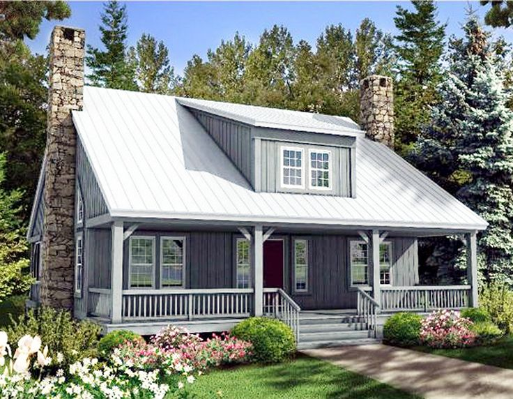 Plan 58555sv Big Rear And Front Porches Inspiration