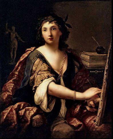 Elisabetta Sirani (Bologna, 8 gennaio 1638 - Bologna, 28 agosto 1665).  Autoritratto, 1658