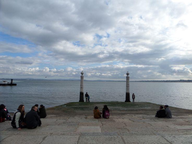 chilling point near Terreiro do Paço, Lisbon, Portugal