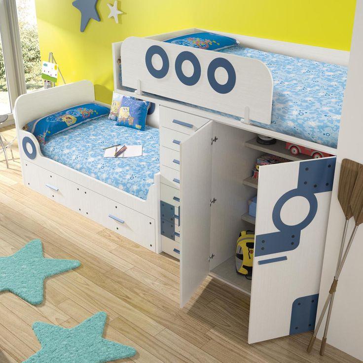 Máxima capacidad y espacio en #dormitorios #infantiles temáticos
