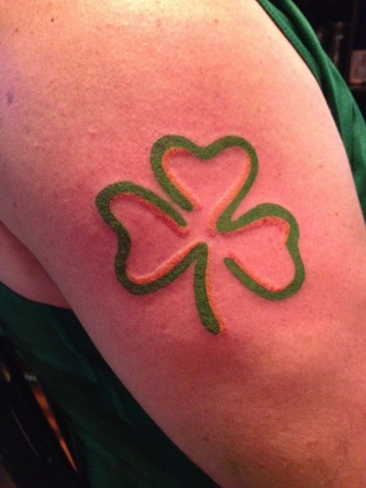3 leaf clover tattoo black - Google Search