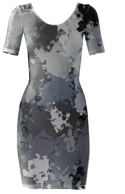 Shades of gray paint splatter Bodycon dress by khoncepts.com