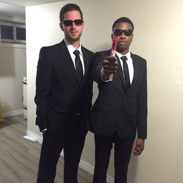 Men in Black: One of our favorite DIY costumes for Halloween. Your wallet will thank you!