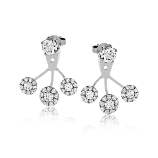 These highly fashionable earring jackets are a fun way to create a different loo...