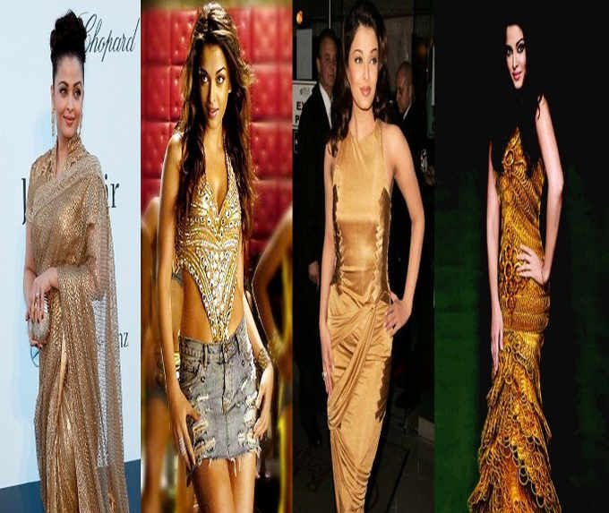Aishwarya Rai Bachchan proves all that glitters is gold. Find more Latest Bollywood News Daily Online In English, Bollywood movies Review, Hollywood movies only on http://daily.bhaskar.com/fashion/1